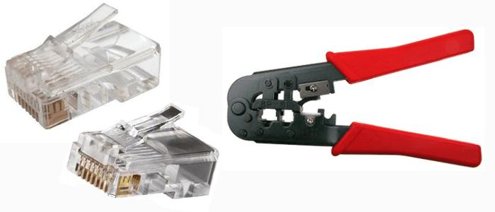 обжимка и коннекторы