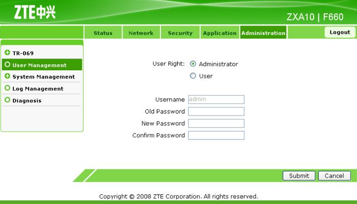 пароль от роутера мгтс zte f660
