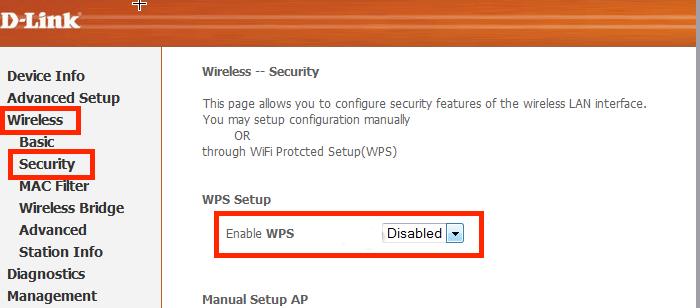 как включить wps на роутере d link