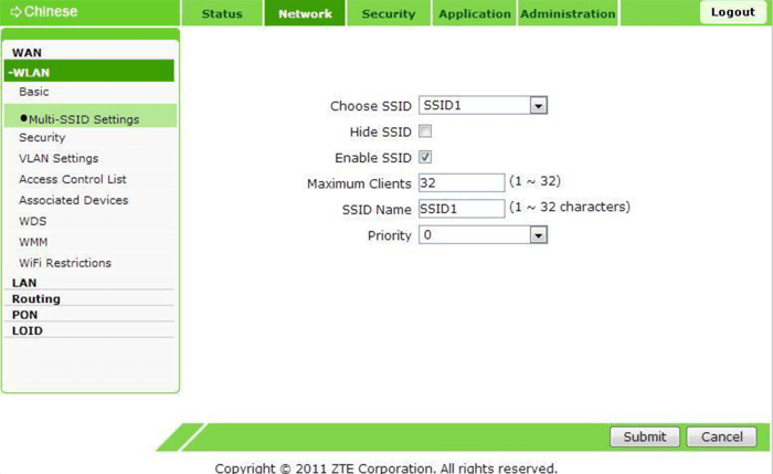 настройка вай фай multi SSID