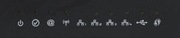 панель индикаторов роутера сагемком фаст 2804
