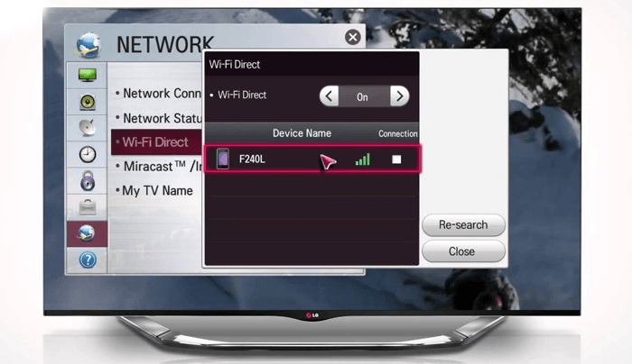wifi директ на lg