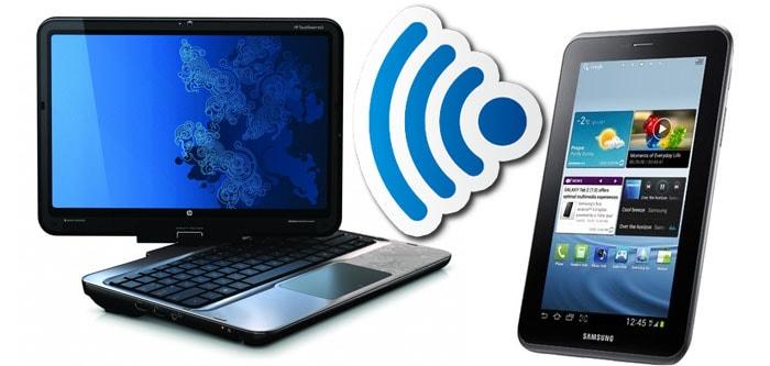 Как подключить планшет к компьютеру через wifi?