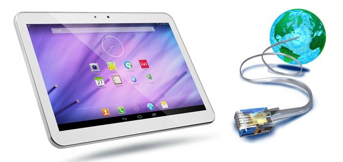 Как подключить планшет к интернету через usb?