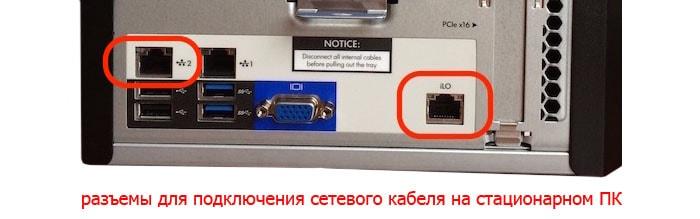 разъем для подключения роутера проводом к компьютеру
