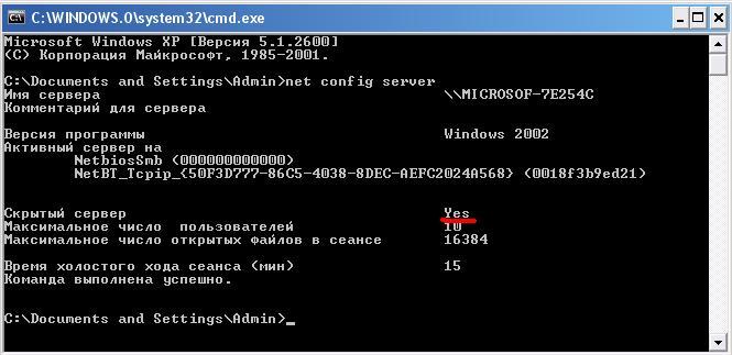 Проверка компьютера на невидимость в сети через командную строку