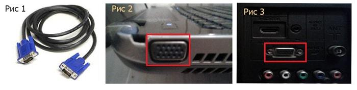 как подключить ноутбук к телевизору через vga rca тюльпан