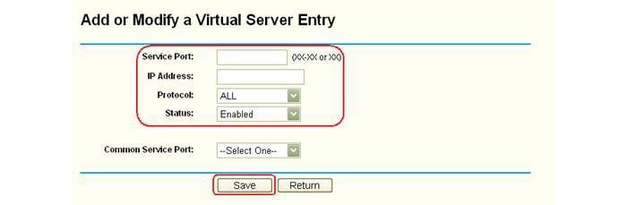 как открыть порты на тп линк