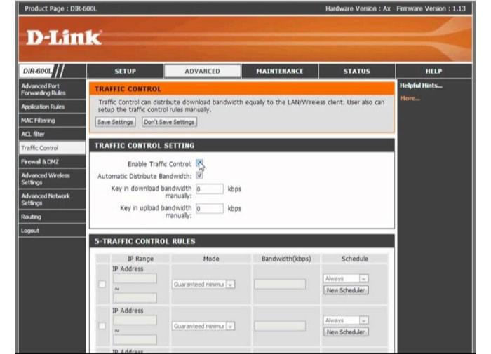 как ограничить скорость интернета в локальной сети через роутер d-link