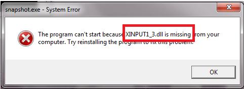 Ошибка xinput1 3 dll для windows 7