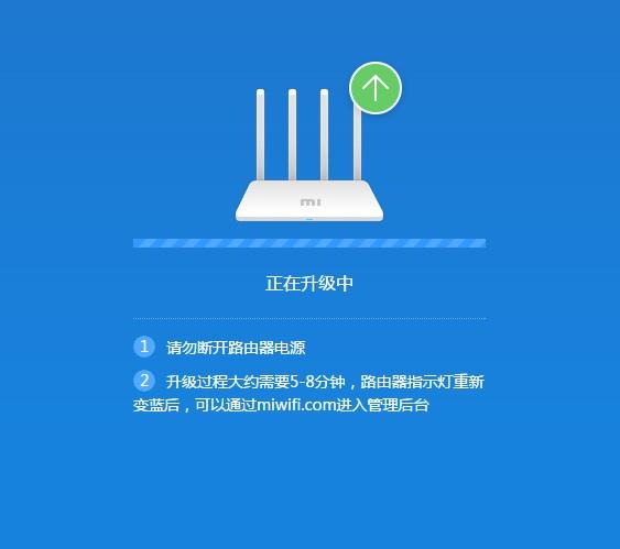 Ожидание загрузки обновления Xiaomi Router 3G