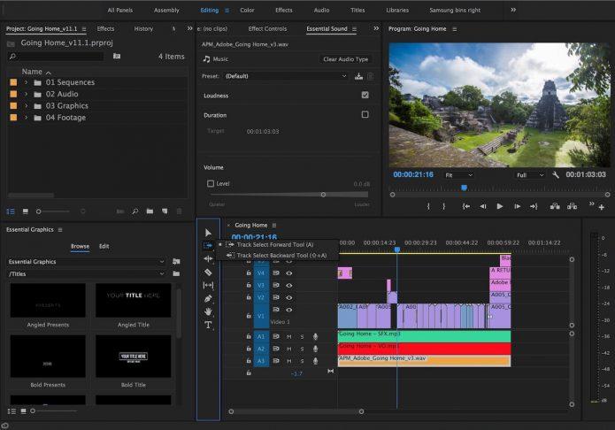 Хорошая программа для редактирования видео Adobe Premiere Pro CC