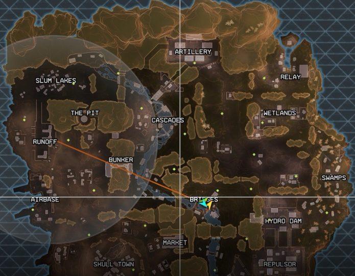 Карта игр Apex Legends