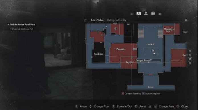 Карта Resident Evil 2 Remake