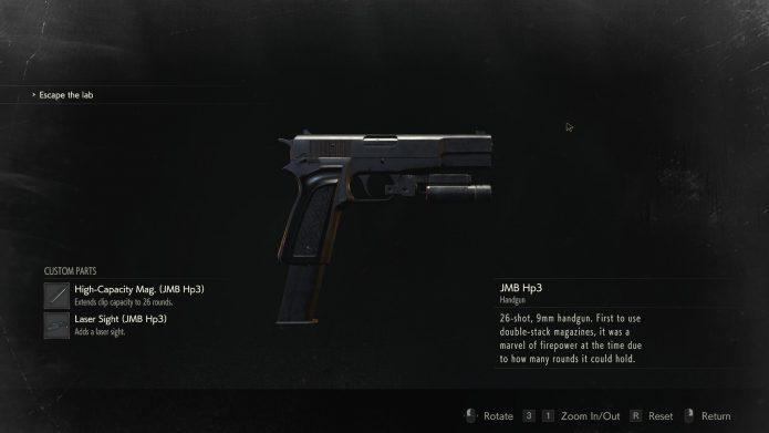 Уникальный пистолет в Resident Evil 2 Remake