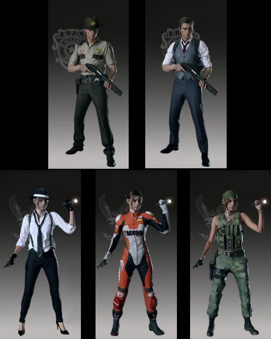 Костюмы Resident Evil 2 Remake