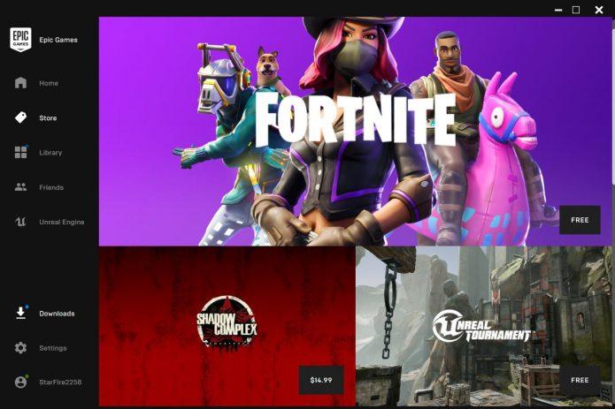 Fortnite в Epic Games Store