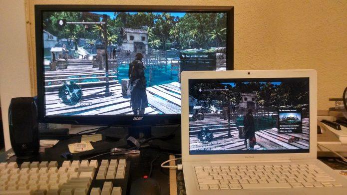 Трансляция игры на ноутбук