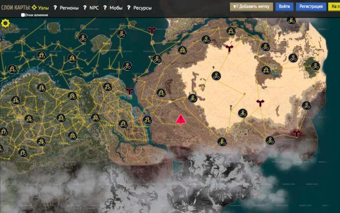 Карта узлов