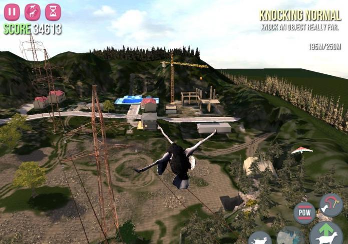 Скриншот с летящим козлом