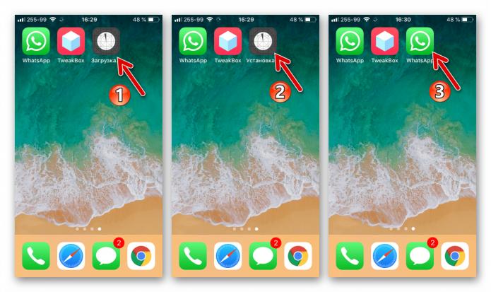 Процесс установки WhatsApp Duplicate