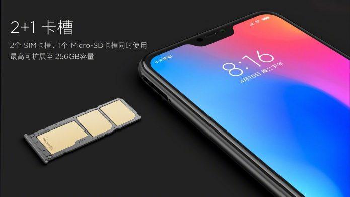 Лоток под сим-карту Xiaomi Redmi 7