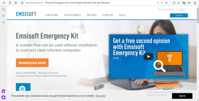 Сканер Emsisoft Emergency Kit