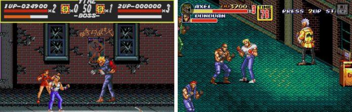Игровой процесс дилогии Streets of Rage