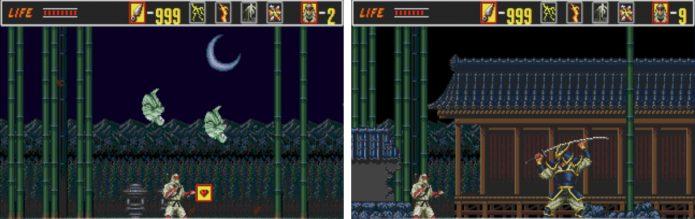 Игровой процесс The Revenge of Shinobi Classic