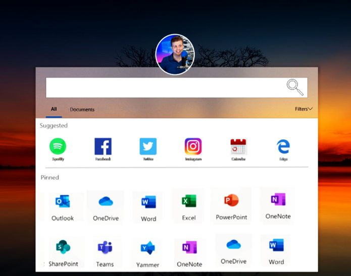 Макет интерфейса Lite OS
