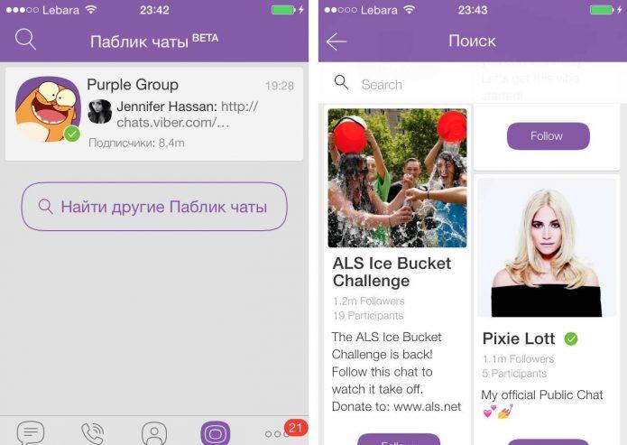 Групповые каналы в Viber
