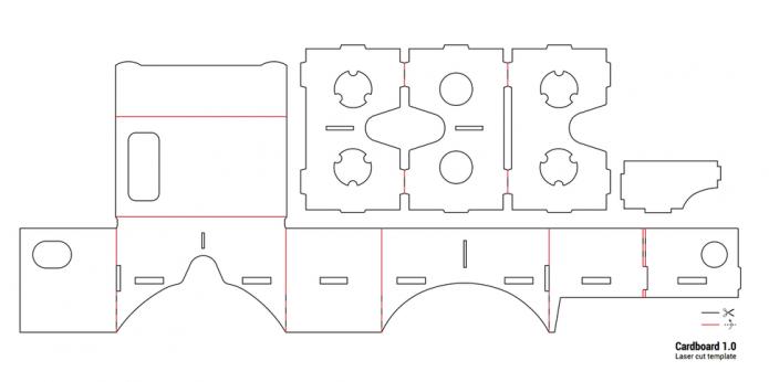 Схема Google Cardboard