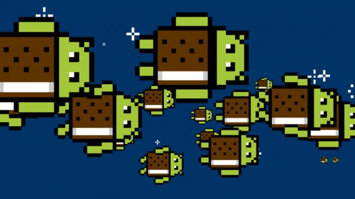 Пасхалка Android 4.0 Ice Cream Sandwich
