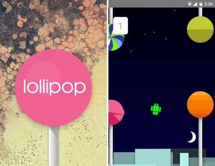 Пасхалка Android 5.0 Lollipop