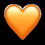 Оранжевое сердечко