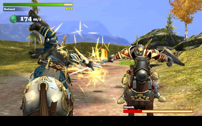 Геймплей Mount and spear: Heroic knights