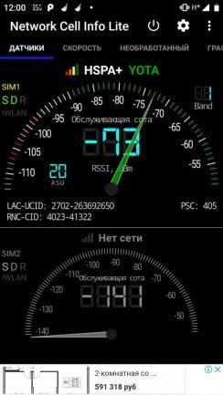 Проверка уровня сигнала и карты покрытия